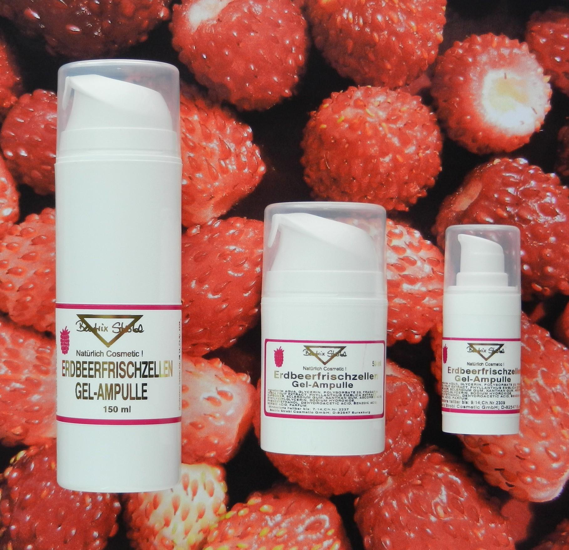 Erdbeerfrischzellen Gel Ampulle