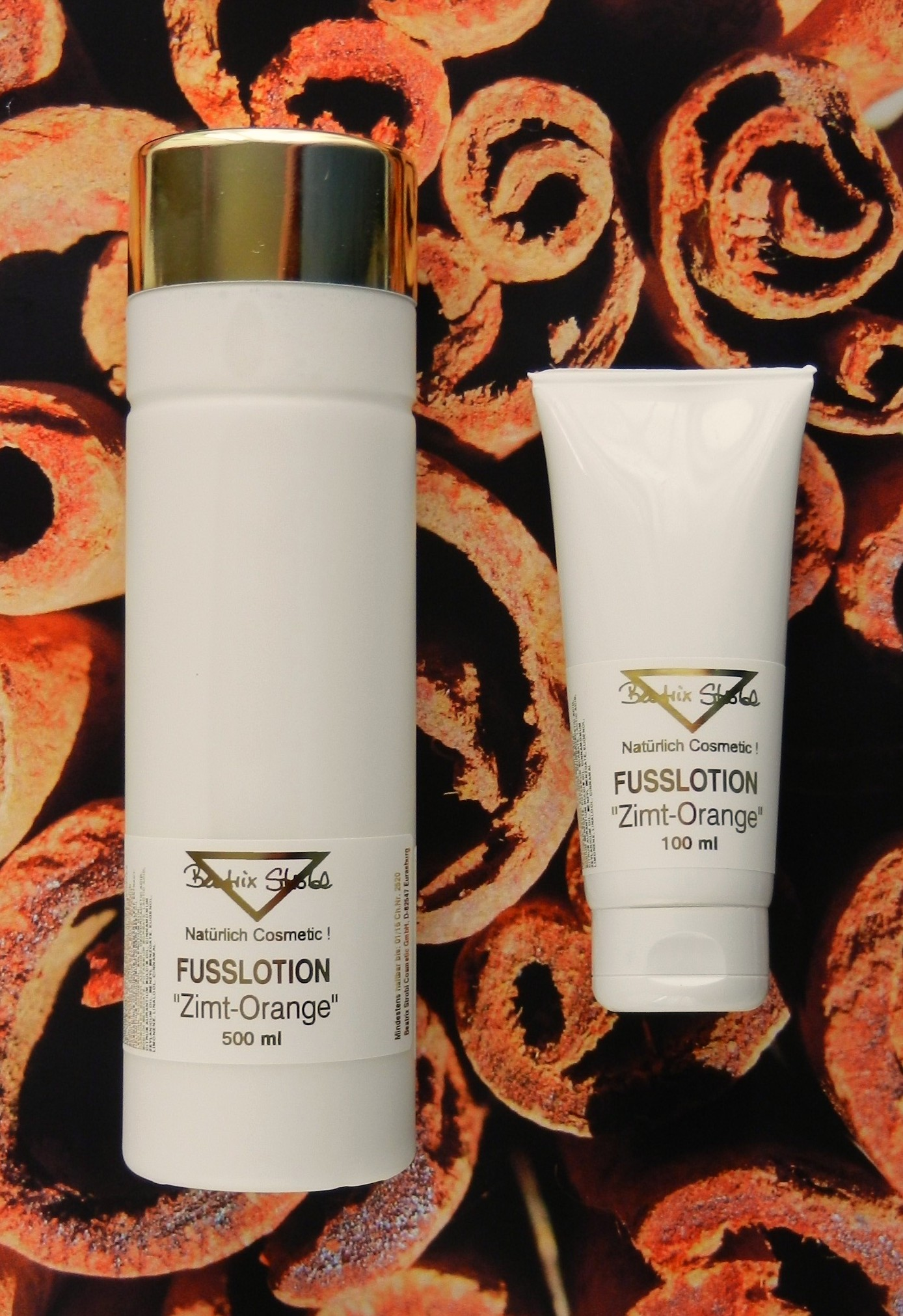 FUSSLOTION ZIMT-ORANGE